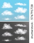 fog   smoke and cloud isolated... | Shutterstock .eps vector #576791728