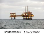 offshore oil   gas central... | Shutterstock . vector #576794020