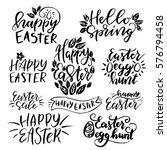 Set Of Hand Drawn  Lettering...