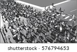 illustration of crowd... | Shutterstock .eps vector #576794653