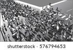 illustration of crowd... | Shutterstock .eps vector #576794653