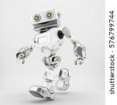 friendly walking retro robot ... | Shutterstock . vector #576799744