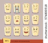 set of flat fridge emoticons.... | Shutterstock .eps vector #576800518