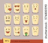 set of flat fridge emoticons.... | Shutterstock .eps vector #576800590