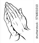 Human Hands Folded In Prayer