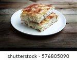 su boregi is a type of pie.... | Shutterstock . vector #576805090