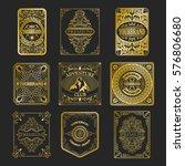 set of antique labels  vintage... | Shutterstock .eps vector #576806680
