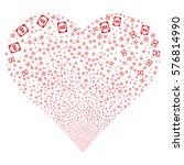 diploma fireworks with heart... | Shutterstock .eps vector #576814990