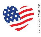 i love usa symbol. vector...   Shutterstock .eps vector #576821830