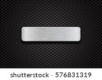 metal brushed plate on... | Shutterstock .eps vector #576831319