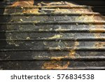 dirty used grill pan after cook | Shutterstock . vector #576834538