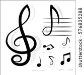 music notes. vector... | Shutterstock .eps vector #576835288