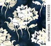 vector illustration. damask... | Shutterstock .eps vector #576835333