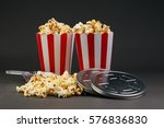 cinema concept with popcorn | Shutterstock . vector #576836830