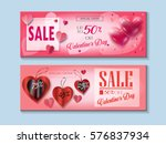 happy valentines day sale... | Shutterstock .eps vector #576837934