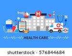 vector illustration in modern... | Shutterstock .eps vector #576844684