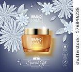 facial cream glass jar... | Shutterstock .eps vector #576846238