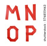 set of m  n  o  p letter... | Shutterstock . vector #576855463