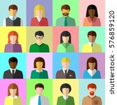 flat avatar set of diverse... | Shutterstock .eps vector #576859120