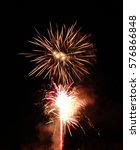 Small photo of fireworks for party or new years eve. Beautiful fireworks can be dangerous accident may occur.