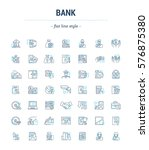 vector graphic set. icons in... | Shutterstock .eps vector #576875380