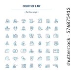 vector graphic set. icons in... | Shutterstock .eps vector #576875413