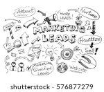 business doodle sketch... | Shutterstock .eps vector #576877279