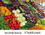 colorful vegetables in the... | Shutterstock . vector #576881464