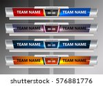scoreboard broadcast graphic... | Shutterstock .eps vector #576881776