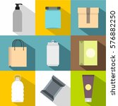 package icons set. flat... | Shutterstock . vector #576882250