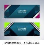 web banner template for... | Shutterstock .eps vector #576883168