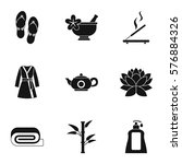 beauty salon icons set. simple... | Shutterstock . vector #576884326