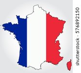 france map outline vector with... | Shutterstock .eps vector #576892150