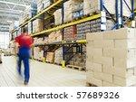 long stack arrangement of goods ...   Shutterstock . vector #57689326