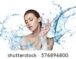 beautiful model spa woman with... | Shutterstock . vector #576896800