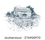Old Barn Drawing