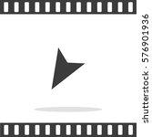 location arrow vector icon. | Shutterstock .eps vector #576901936