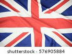 flag of uk. close up. front... | Shutterstock . vector #576905884
