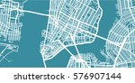 detailed vector map of new york ... | Shutterstock .eps vector #576907144