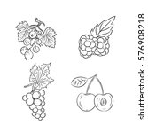 collection set of hand drawn... | Shutterstock .eps vector #576908218