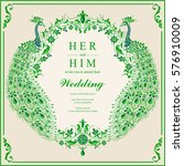 indian wedding invitation card... | Shutterstock .eps vector #576910009