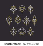 vector nature leaves and trees' ... | Shutterstock .eps vector #576913240