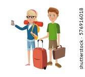 people traveling design | Shutterstock .eps vector #576916018