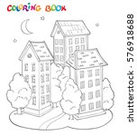 coloring page book for kids  ... | Shutterstock .eps vector #576918688