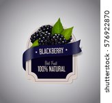 berry label with ripe... | Shutterstock .eps vector #576922870