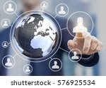 multi national human resources  ... | Shutterstock . vector #576925534