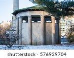 rotunda in gray marble on a... | Shutterstock . vector #576929704
