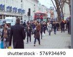 crowds of people walking in...