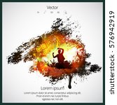 music event poster with dancing ... | Shutterstock .eps vector #576942919