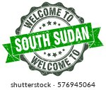 south sudan. welcome to south... | Shutterstock .eps vector #576945064